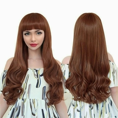 women straight long wigs curly hair fashion 2019 new style party wear wigs as picture normal