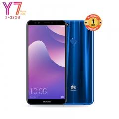 Huawei Y7 Prime 2018: 3+32GB -5.99 inch-13MP-Face unlock+Selfie Flash-2 Sim+1 SD Slot- CPU-Octa-Core Blue