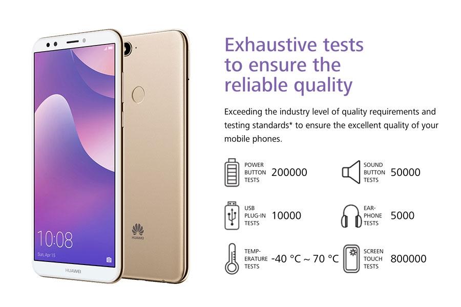 Huawei Y7 Prime (2018) , 3+32GB -5 99 fullscreMP-Dual SIM-3000mAh--  Smartphoneen-13+8 Black