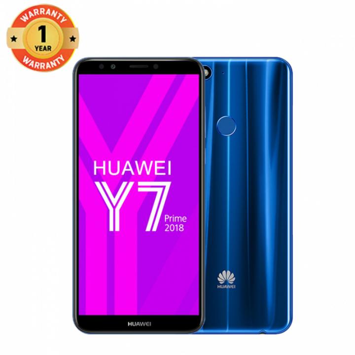 Huawei Y7 Prime (2018) , 3+32GB -5.99 fullscreMP-Dual SIM-3000mAh-- Smartphoneen-13+8 Blue