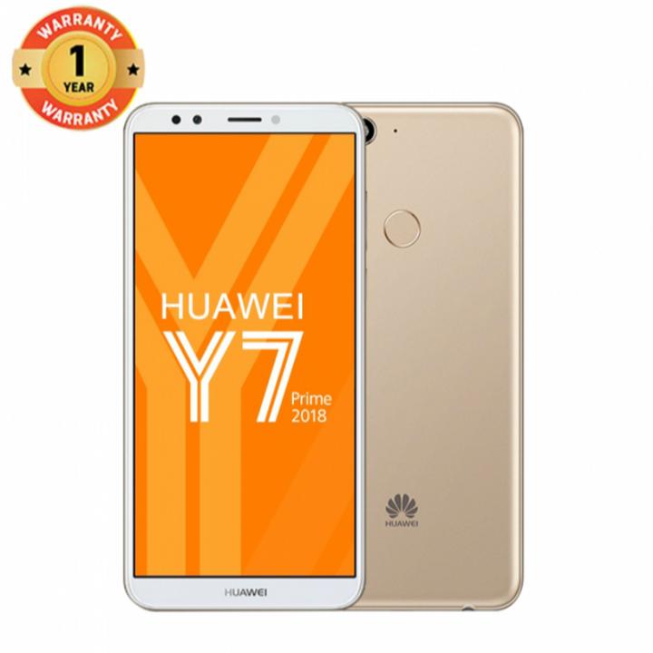 Huawei Y7 Prime (2018) , 3+32GB -5.99 fullscreMP-Dual SIM-3000mAh-- Smartphoneen-13+8 Gold