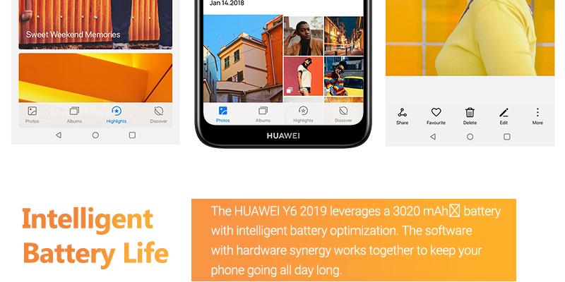 HUAWEI Y6 Prime 2019 Smartphone Midnight Black 10