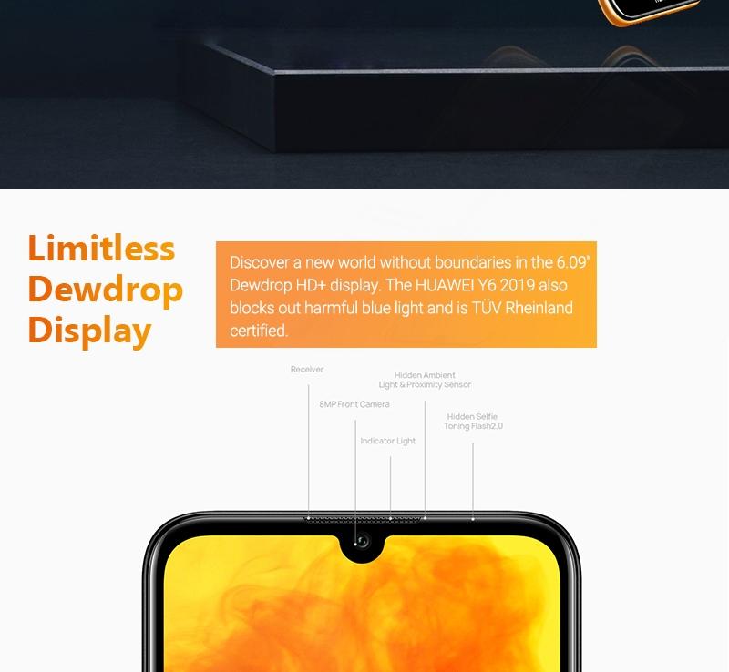 HUAWEI Y6 Prime 2019 Smartphone Midnight Black 3
