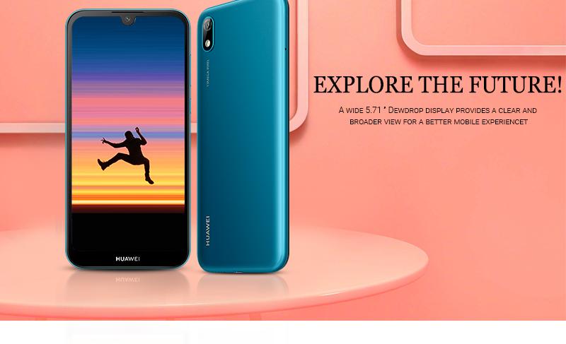 HUAWEI Y5 2019,  2GB RAM + 32 GB ROM Smartphone + Free Selfie Stick sapphire blue 3