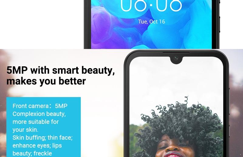 HUAWEI Y5 2019,  2GB RAM + 32 GB ROM Smartphone + Free Selfie Stick sapphire blue 5