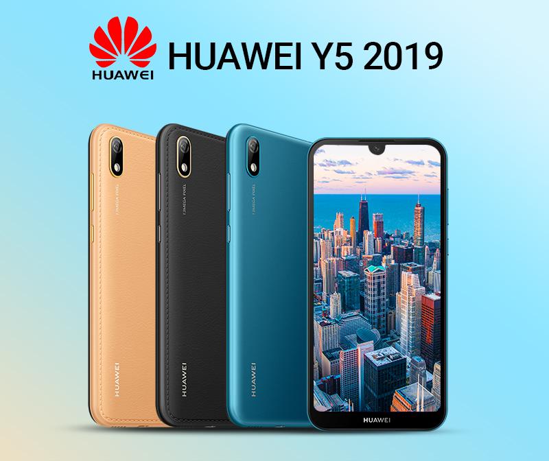 HUAWEI Y5 2019,  2GB RAM + 32 GB ROM Smartphone + Free Selfie Stick sapphire blue 1