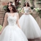 1 piece Sleeveless Appliques Wedding Dresses Backless lace up Sexy Bride Dresses Wedding Gowns white m