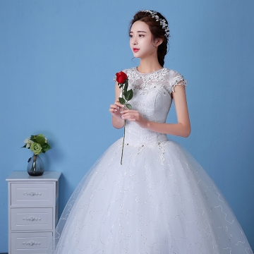Kilimall: QUEEN 1 Piece Sexy Cap Sleeve Lace Up Wedding Dresses ...