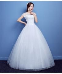 QUEEN Wedding dress bride wedding Korean shoulder slimming married ladies straps wedding dress xxl white