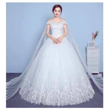 4303f0a0e99 QUEEN 1 Piece Sexy Gorgeous Off Shoulder Lace Up Wedding Dresses Bride  Dresses Ball Gowns s