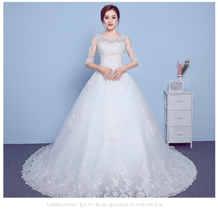 QUEEN 1 Piece Sexy Short Sleeve Lace Up Wedding Dresses Appliques Bride Dresses Ball Gowns