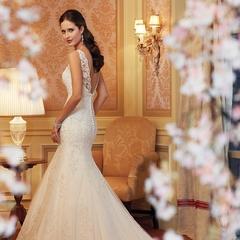 QUEEN 1 Piece Ruffle Design Romantic Wedding Dresses Appliques Princess Bride Dresses Ball Gowns l white