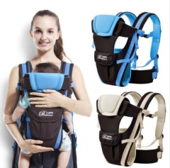 0-30 Months Baby Carrier, Ergonomic Children's Sling Backpack Packaged in Front of Multifunctional blue one  size