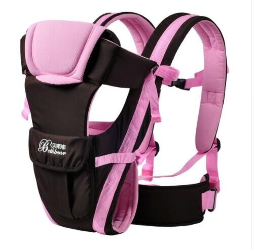 0-30 Months Baby Carrier, Ergonomic Children's Sling Backpack Packaged in Front of Multifunctional pink one  size