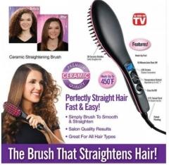 2018 Hair Straightener LCD Display Ceramic Hair Brush Fast Straightener Comb Degital Control Pictured 27.5cm*7cm*4cm