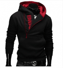Assassins Creed Hoodies Men Letter Printed Men's Hoodie Sweatshirt Long Sleeve Slim Hooded Jacket black red l