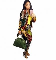 Womens Fashion Business Blazer Suits Two Pieces OL Pants Suits Single Button Long Coats mulit S