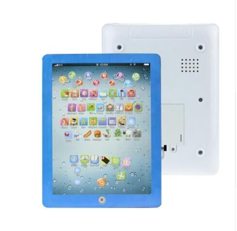 English Early Learning Study Machine Baby Tablet Educational Toys For Child Electronic Touch blue one  size