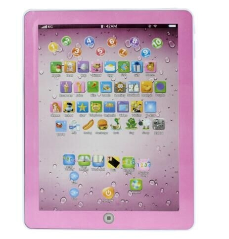 English Early Learning Study Machine Baby Tablet Educational Toys For Child Electronic Touch pink one  size