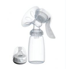 Manual Breast Pump Powerful Baby Nipple Suction 150ml Feeding Milk Bottles Breasts Pumps white Pictured