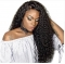Lace Front Human Hair Wigs For Women Natural Black Pre Plucked 250% Density Brazilian Pictured 24inches