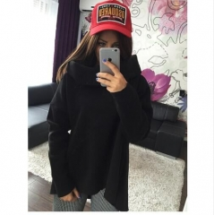 2018 New Fashion Women's Long Coat For Wintter Slimfit Hoddies For Girls Ladies Jacket black l black