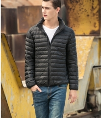 2018 Men's Fashion New Winter Jacket Warm Jacket Winter Men's Casual Jacket Men's Black S Black hooded xxxl