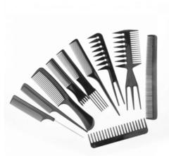 10pcs/Set Professional Hair Brush Comb Salon Barber Anti-static Hair Combs one size pink black