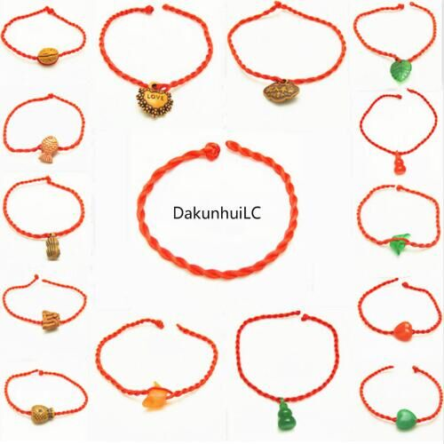 2018 Fashion Red Thread  Bracelet Lucky Rope Bracelet for Women Men Lover Couple Gift randomly distributed one size