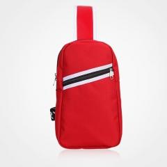 Men Shoulder Bag Sports Students Chest Bag Outdoor Messenger Cross Body Bag for Travel Pack Canvas purple L