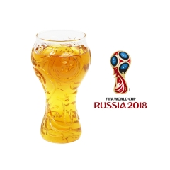 2018 FIFA World Cup Beer Mug Bar Football Fans High Borosilicate Transparent Glass Beer Cup transparent 400ml