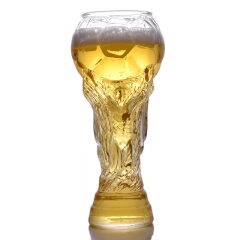 2018 FIFA World Cup Beer Mug Bar Football Shape Transparent Glass Beer Cup transparent 450ml