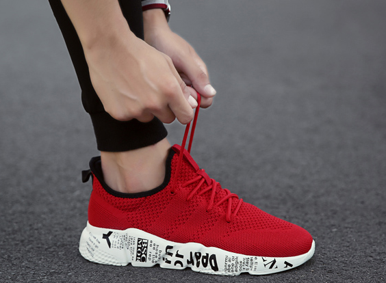 Casual Shoes Breathable Male Shoes Tenis Masculino Shoes Zapatos Outdoor Shoes Sneakers Men red 40