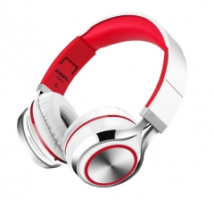 Fashion Ingel Heavy Bass Folding Headphones With Mic For Smartphone Headset Stereo Earphone Headsets White red