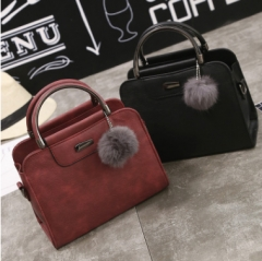 Casual PU Leather Women Handbags Ladies Small Shopping Bag Shoulder Messenger Crossbody Bags Red one size