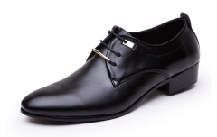NEW Men Flats Leather Shoes Brogue Pointed Oxford Flat Male Casual Shoes Mens Luxury Brand Black 38 As  picture