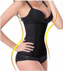 Corset Waist Trainer Corsets Steel Boned  Sexy Intimates Corselet and Bustiers Waist Trainer Shaper Black M