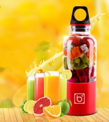 500ml USB Electric Fruit Juicer  Blender Juice Cup Milkshake Making Juices Fruits Grinding Tools Purple 500ml
