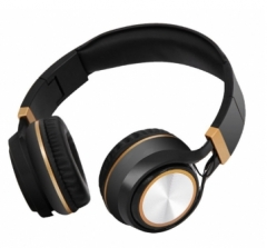 Fashion Ingel Heavy Bass Folding Headphones With Mic For Smartphone Headset Stereo Earphone Headsets Black gold