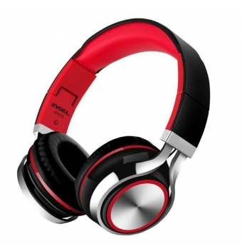 Fashion Ingel Heavy Bass Folding Headphones With Mic For Smartphone Headset Stereo Earphone Headsets Black  red