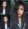 Small Wave Curl Fashion Lady In Long Curly Hair Small Curls Black Long Hair Wigs Black as picture