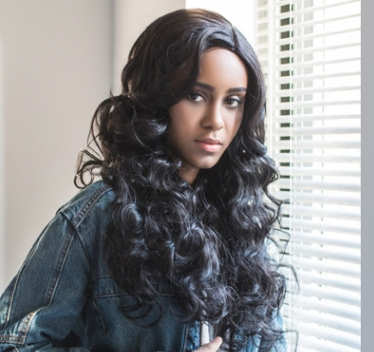 Long Hair In High Fashion Wigs Partial Long Curly  Black  Hair Black as picture