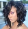 Synthetic Short Wigs For Black Women Wavy With Bangs Hairstyle Heat Resistant Black As picture