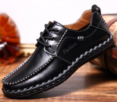2018 New Men's Shoes Handmade Shoes Casual Shoes Men's  Low Shoes Black 39 as  picture