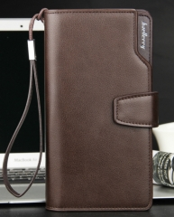 Top Quality Leather Long Wallet Men Pruse Male Clutch Zipper Around Wallets Men Money Bag Coffee As picture
