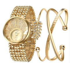 Wristwatch Bracelet Set Quartz watch Woman Ladies Watches Clock Female Dress Relogio Feminino Gold