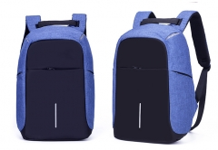 Multifunction USB charging Men Laptop Backpacks Leisure Travel backpack anti thief blue As picture