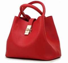 Women's Handbags Candy Shoulder Bags Ladies Totes Simple Women Messenger Bag Red send free gift