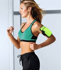 Sport Armband Case Zippered Fitness Running Arm Band Bag Pouch Jogging Workout Cover Green send free gift