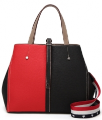 Four Seasons New Fashion Party Bag Contrast Shoulder Diagonal Bag Simple Multi-color handbag Red send free gift